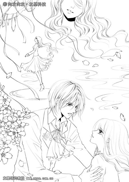 樱花手绘图片教程
